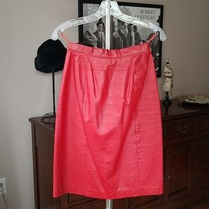 Wilsons Suede & Leather red leather skirt